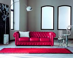 Chesterfield Sofa Leather by Chesterfield Sofa Leather 3 Seater Red Alioth Doimo Sofas