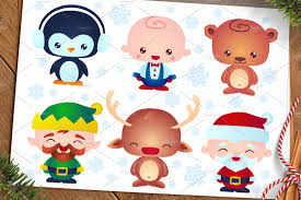 cute christmas baby characters illustrations creative market