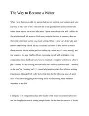 Expressing yourself Essay   In the service of social harmony     Course Hero   pages Essay  The Way to Become a Writer