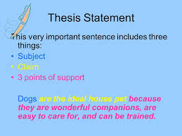thesis statements Imhoff Custom Services