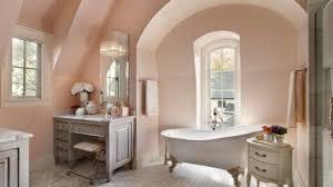 amusing rustic bathroom decor with oak floor and drop in bathtub light peach walls add modern feel shabby chic bathroom bathroom ideas 31320