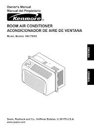 kenmore air conditioners 580 7505 pdf user u0027s manual free download