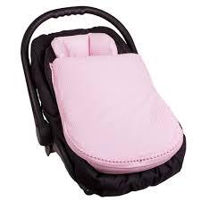 couverture coton bio chancelière universelle en tricot rose pour poussette siège auto coque