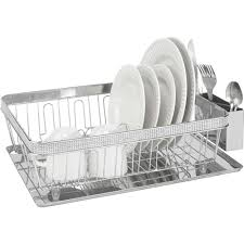 Plastic Dish Drying Rack Kitchen Details Dish Rack With Cup And Tray Chrome Pave Diamond