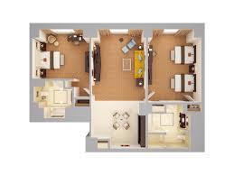 3d Floor Plans by Waldorf Astoria Orlando 3d Floor Plans