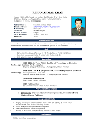 Blank Resume Template Microsoft Word Resume Sample For Bds Freshers Templates