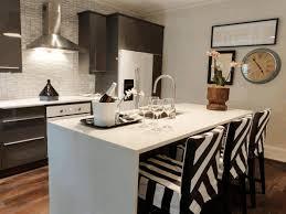 small kitchen with island ideas metal frame bar stools white range