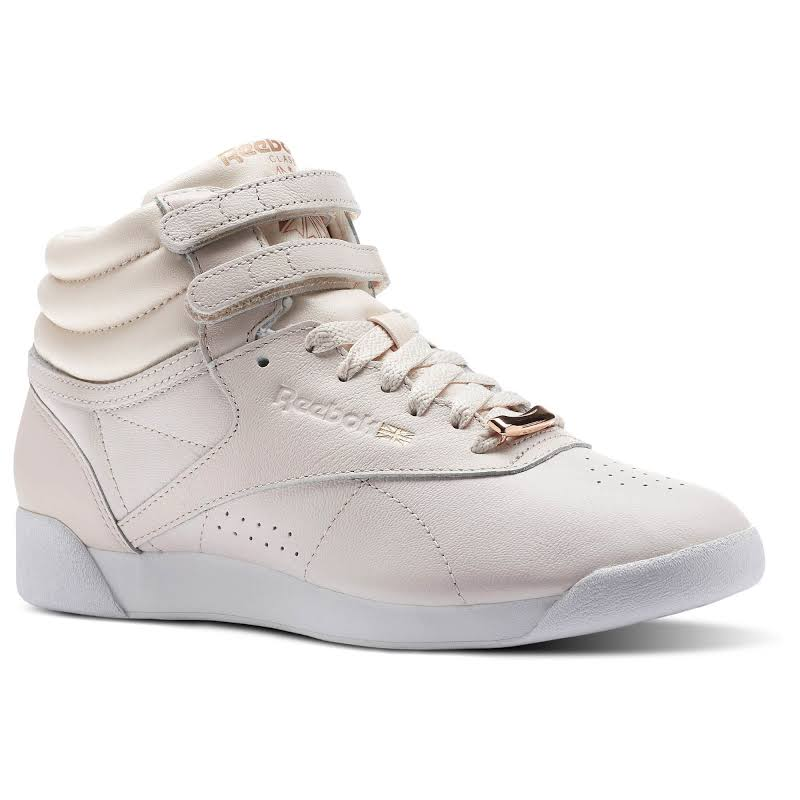 Reebok Freestyle High Top Muted Sneakers Pink 9 M