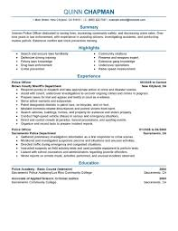 Writing A Summary For Resume Best Police Officer Resume Example Livecareer