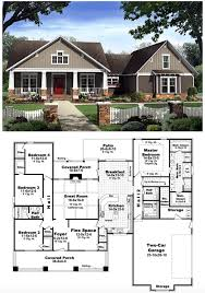 craftsman style bungalow house plans bungalow country craftsman house plan 59198 craftsman hidden