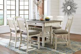 Counter Height Dining Room Tables by White And Gray Rectangular Counter Height Dining Room Set