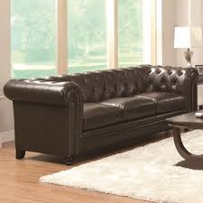 tufted sofa traditional button tufted sofa with rolled back and arms