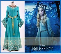 Aurora Halloween Costume Ems Free Shipping Customized Movie Maleficent Princess Aurora