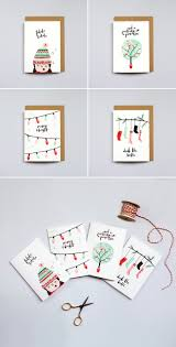 the lovely drawer christmas cards brush lettering illustration