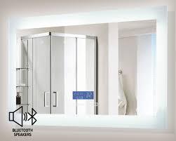 Bathroom Mirror With Lights Built In encore blu led illuminated bathroom mirror with built in bluetooth
