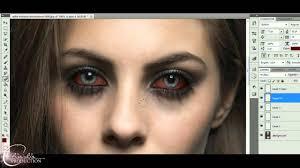 how to vampire eyes photoshop vampire diaries style youtube