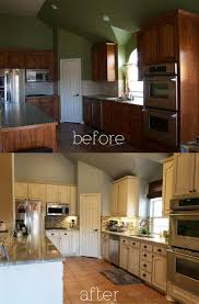 Kitchen Cabinet Refacing Before And After Photos Best 20 Glazing Cabinets Ideas On Pinterest Refinished Kitchen