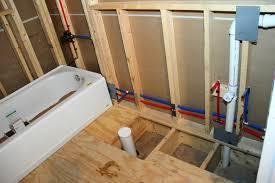 Plumbing In The Downstairs Bathroom Blog Homeandawaywithlisa - Plumbing for bathroom