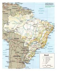 Political Map Of Latin America by Political Map Of Brazil With Relief Brazil South America