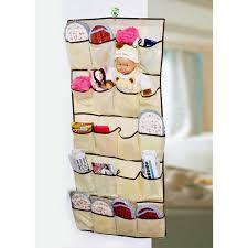 20 pockets over door cloth shoe organizer hanging hanger closet