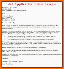 Resume Application For Job by Sample Of Cover Letter For It Job Application