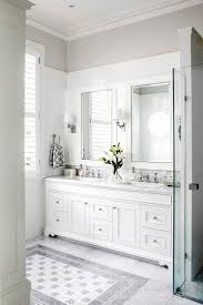 Wainscoting Ideas Bathroom by Bathroom Cabinets Grey Bathroom With White Wainscoting Gray