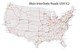 United States And Canada Map us and canada printable map with all roads cities states all