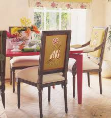 dining room square pattern upholstered dining chair and white