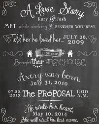 our love story chalkboard printable diy weddings home decor