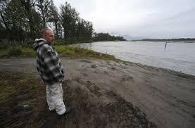 Governor issues disaster declaration for Matanuska River erosion     Alaska Dispatch News Homeowner Dave Blair who lives across the Old Glenn Highway from the Matanuska River  checks