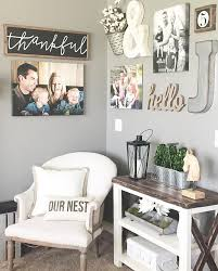 Love This Cozy Corner What A Great Use Of Space  The Thankful - Wall decor for living room