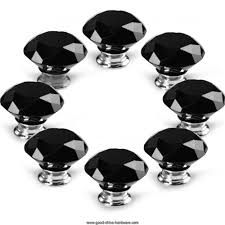 8pcs 50mm crystal glass door knob handles screws for room