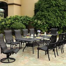 Wicker Resin Patio Furniture - darlee victoria 11 piece resin wicker patio dining set with