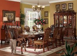 amazon com acme furniture dining table w double pedestal