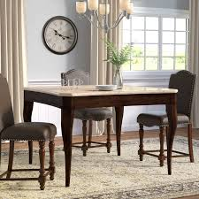 Darby Home Co Swenson Counter Height Dining Table  Reviews Wayfair - Counter height kitchen table