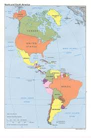 Caribbean Sea On Map by North And South America Map Canada Usa Mexico Guatemala Cuba