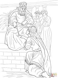 esther before king ahasuerus coloring page free printable