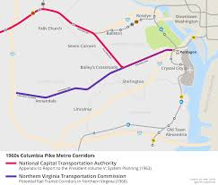 Metro Lines Map by Why Is There No Metro Line On Columbia Pike U2013 Greater Greater
