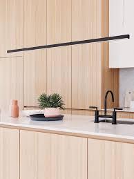 ledlux strix led 2400 lumen dimmable pendant in black modern