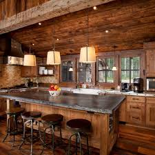 Cabin Design Ideas Traditional Kitchen Log Cabin Design Ideas Pictures Remodel And