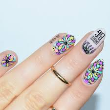 hii here i am with an stamping nail design using the plate bm s301