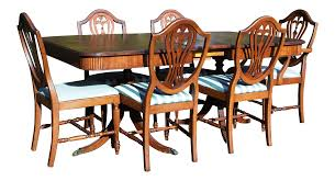 Thomasville Dining Room Chairs by Thomasville Hepplewhite Duncan Phyfe Mahogany Dining Set Table U0026 6