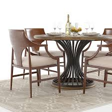 hooker cinch round table and jens chairs 3d model max obj fbx mtl