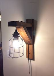 Home Decoration Lamps Rustic Corbel Light Sconce Bedside Light Rustic Lamp Wall