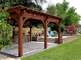 Timber Frame Pergola by 12 Rich Sequoia Landscape Ideas Arbors Awnings Bridge Decks