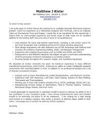 Engineering Internship Cover Letter Examples Excellent Subject