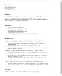 Financial Resume Sample professional financial controller templates to showcase your