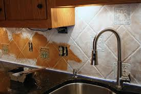 Painted Kitchen Backsplash Photos How To Paint A Tile Backsplash My Budget Solution Designer Trapped