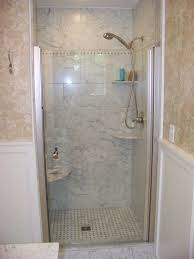 adorable shower room with smokey white tiles wall with deluxe