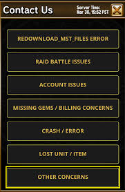How to Report or provide Feedback      gumi SELF HELP CENTER gumi support After hitting the Contact Us button  a selection of issues can be found  If you have not found the topic for your inquiry  click Other Concerns